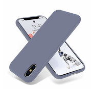 ShieldCase® Silicone case iPhone X / Xs (lavendel grijs)