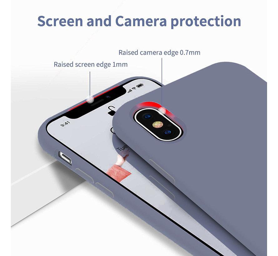 ShieldCase Silicone case iPhone X / Xs (lavendel grijs)