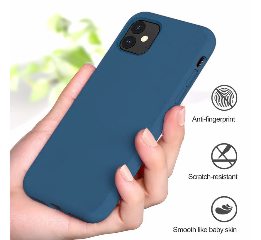 ShieldCase Silicone case iPhone 11 (blauw)