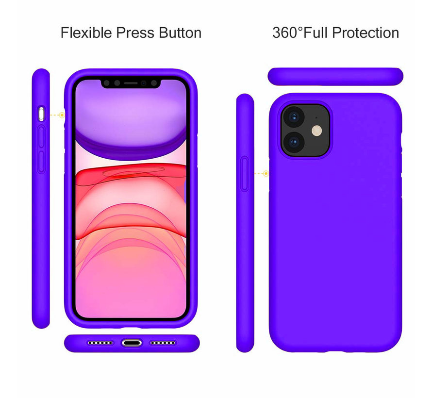 ShieldCase Silicone case iPhone 11 (donkerpaars)
