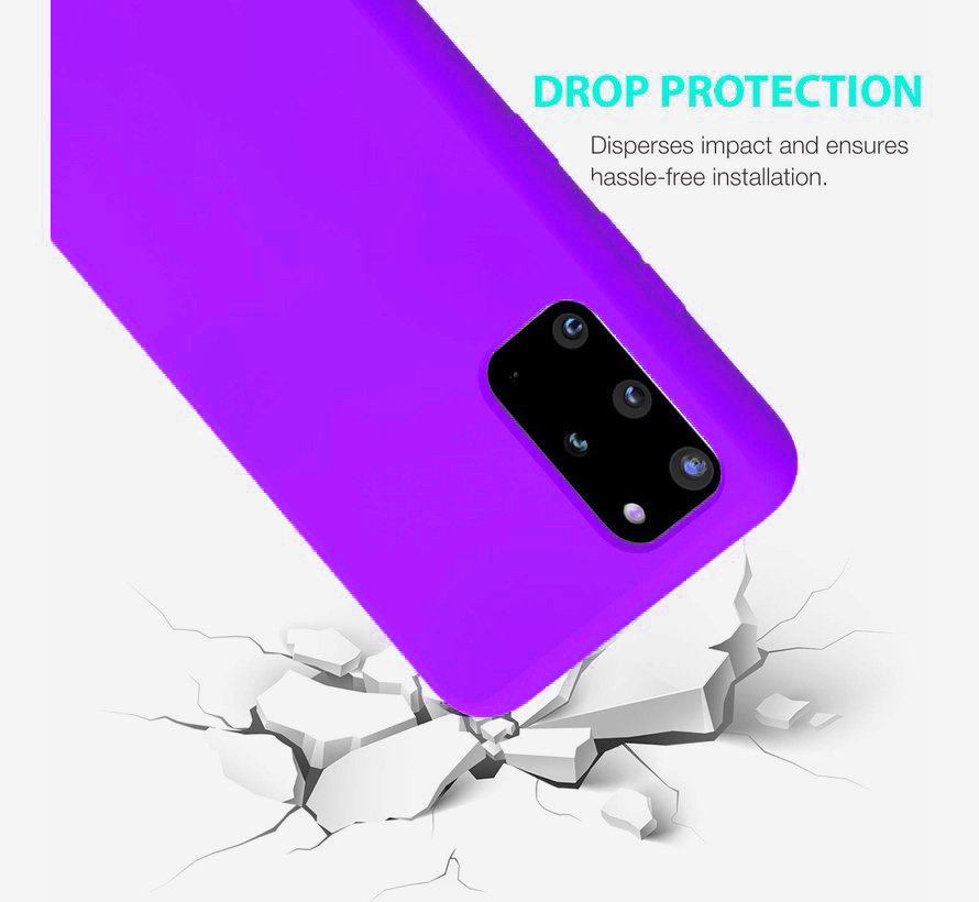Shieldcase Silicone case Samsung Galaxy S20 Plus (donkerpaars)