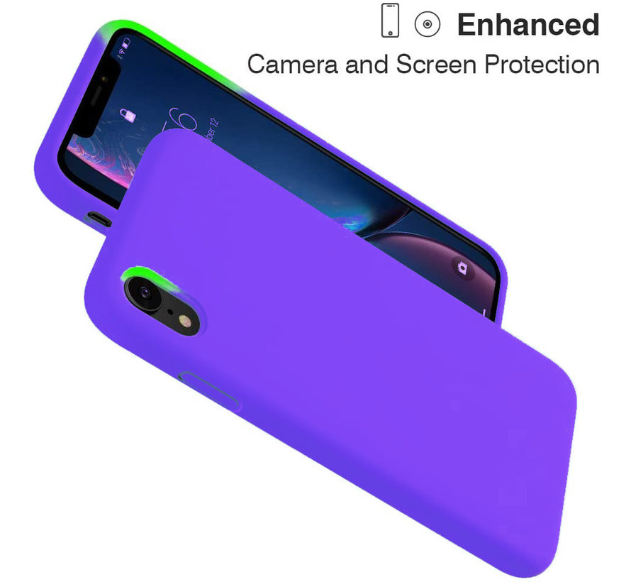 ShieldCase Silicone case iPhone Xr (donkerpaars)