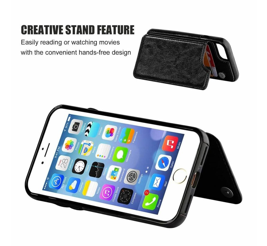 ShieldCase iPhone SE 2020 wallet case (zwart)