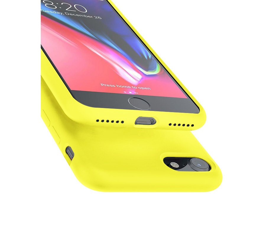 Shieldcase Silicone case iPhone SE 2020 (geel)