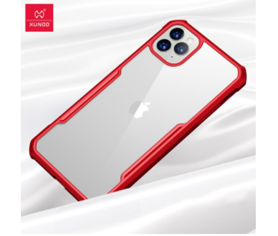 ShieldCase ShieldCase Shock case met gekleurde bumpers iPhone 11 (rood)