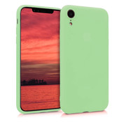 ShieldCase Siliconen hoesje met camera bescherming iPhone Xr (lichtgroen)
