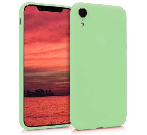 ShieldCase® Shieldcase Siliconen hoesje met camera bescherming iPhone Xr (lichtgroen)