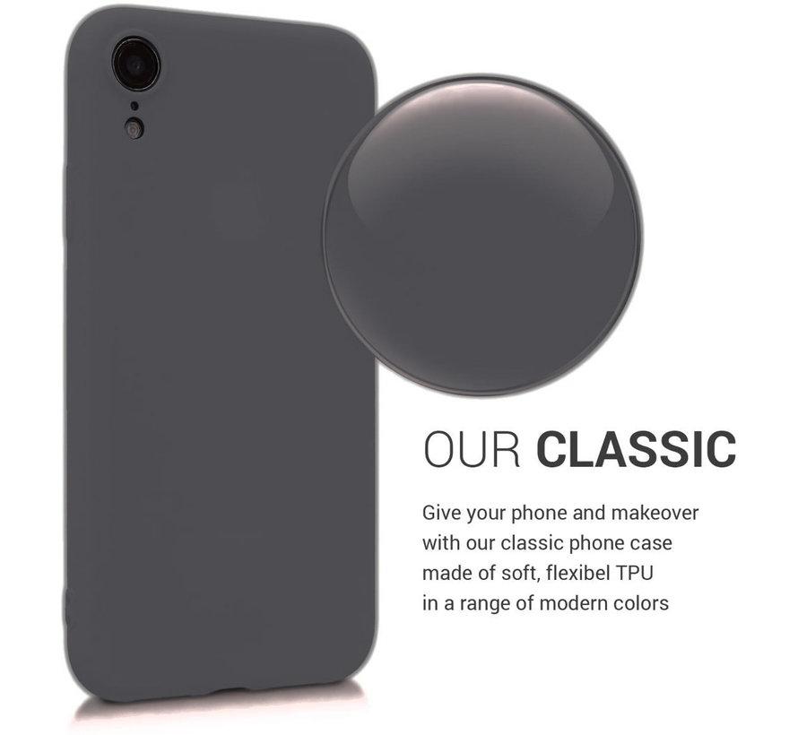 Shieldcase Siliconen hoesje met camera bescherming iPhone Xr (zwart)