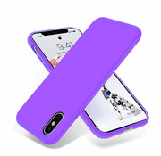 ShieldCase Silicone case iPhone X / Xs (donkerpaars)