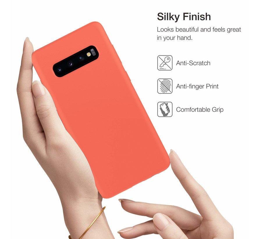 Shieldcase Silicone case Samsung Galaxy S10 (oranje)