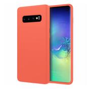 ShieldCase® Silicone case Samsung Galaxy S10 (oranje)