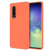 ShieldCase® Silicone case Samsung Galaxy A50 (oranje)