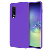 ShieldCase® Silicone case Samsung Galaxy A50 (donkerpaars)