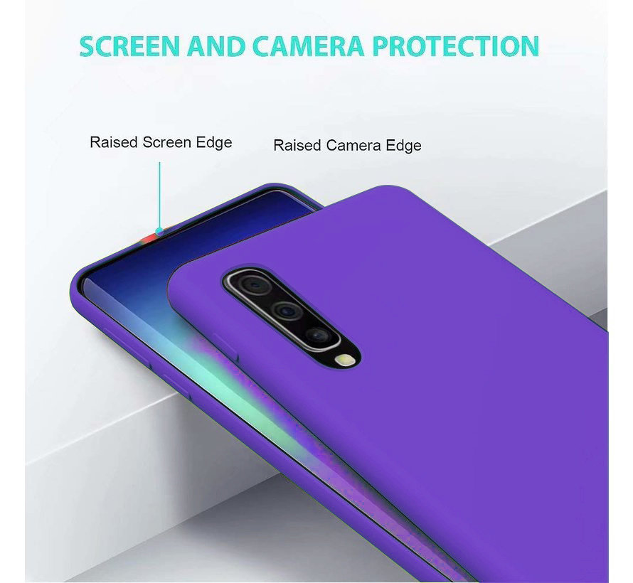 Shieldcase Silicone case Samsung Galaxy A50 (donkerpaars)