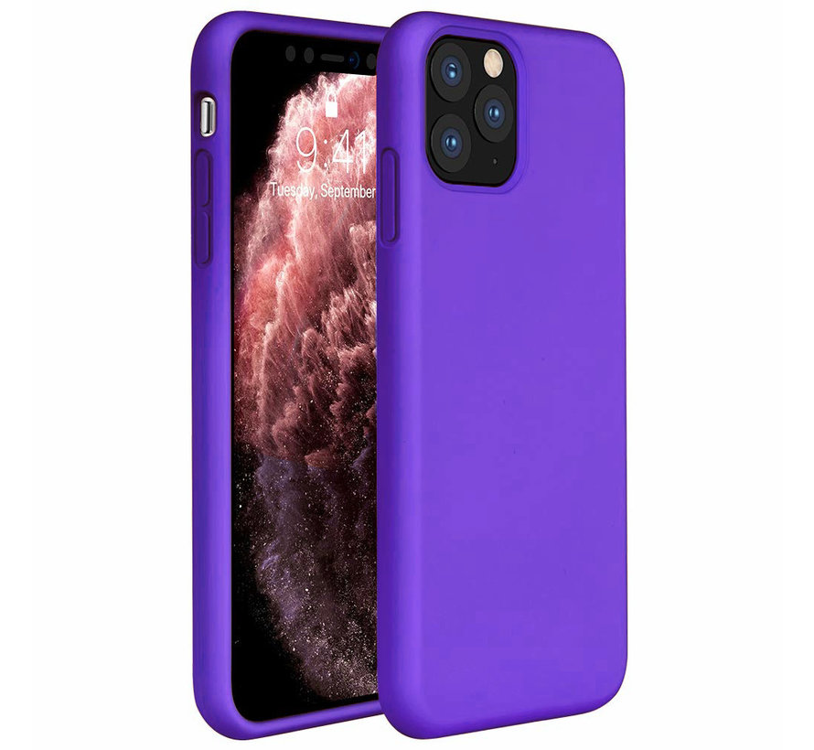 ShieldCase Silicone case iPhone 11 Pro Max (donkerpaars)