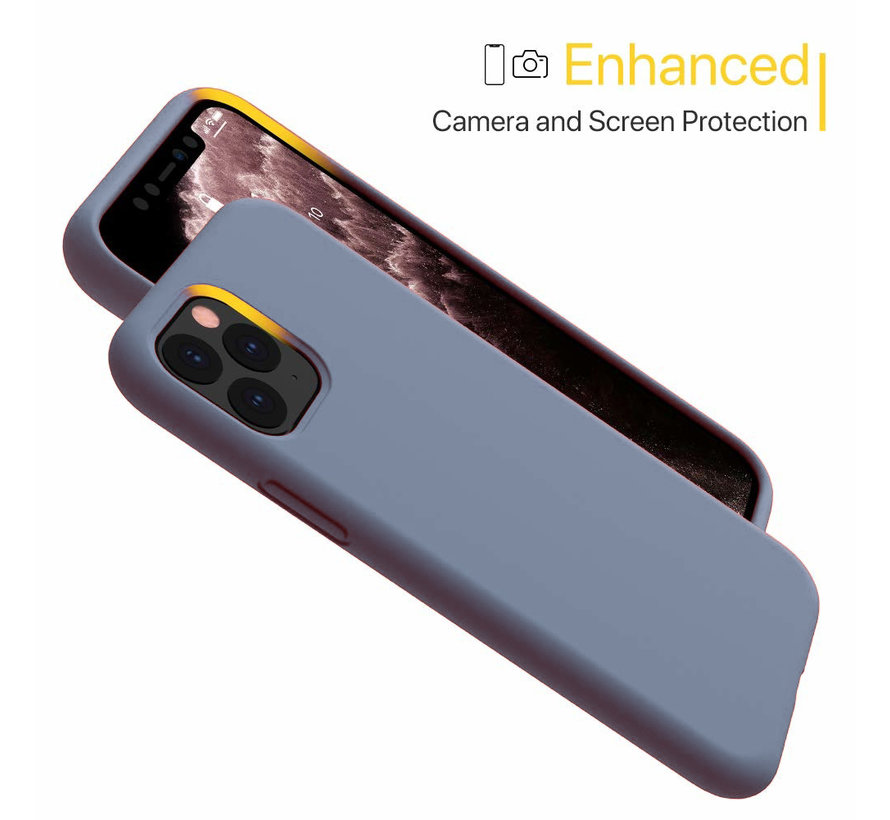 ShieldCase Silicone case iPhone 11 Pro (lavendel grijs)