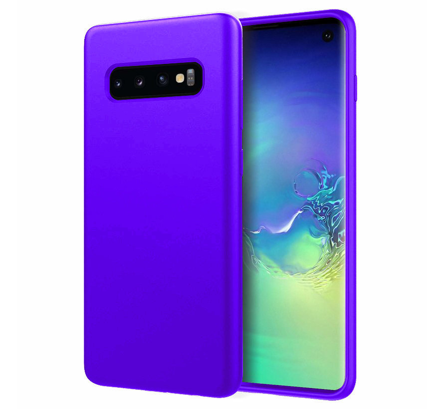 Shieldcase Silicone case Samsung Galaxy S10 (donkerpaars)