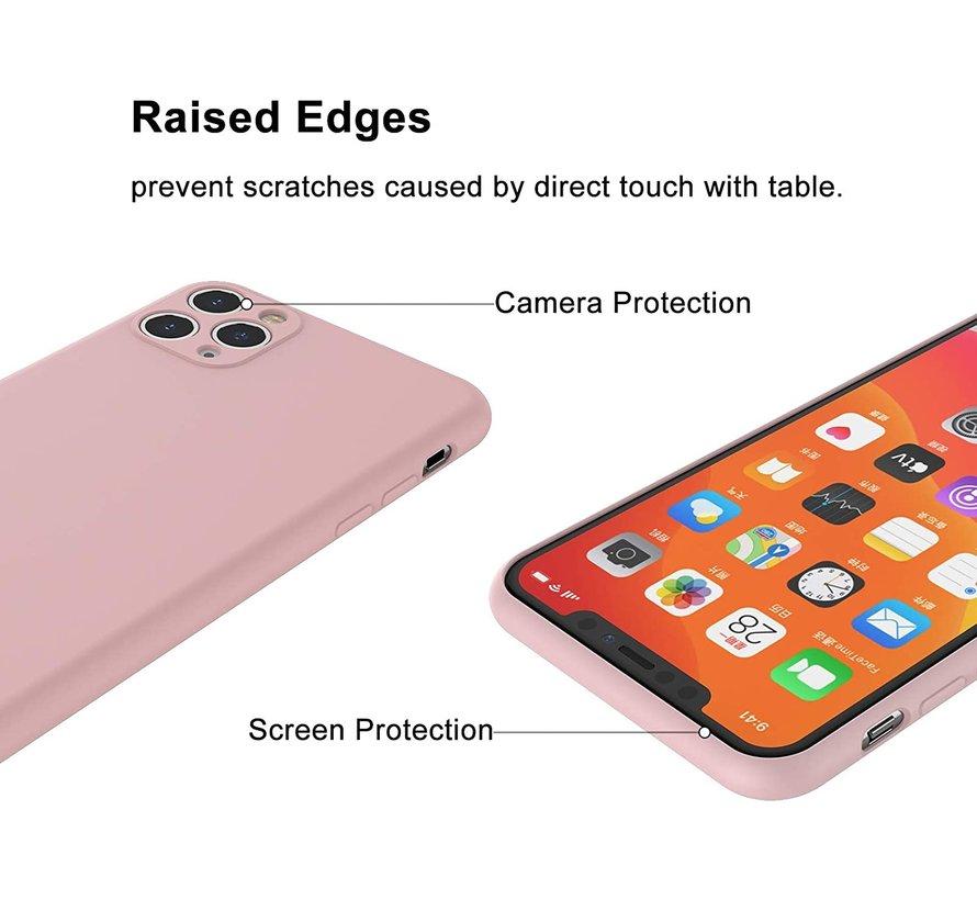 Shieldcase Siliconen hoesje met camera bescherming iPhone 11 Pro (roze)