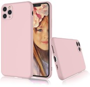 ShieldCase® Siliconen hoesje met camera bescherming iPhone 11 Pro Max (roze)