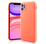 ShieldCase Siliconen hoesje met camera bescherming iPhone 11 (oranje)