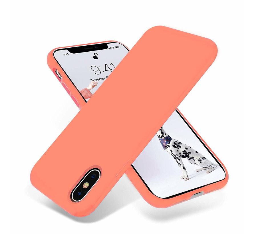 ShieldCase Silicone case iPhone X / Xs (oranje)