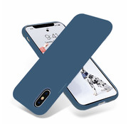 ShieldCase® Silicone case iPhone X / Xs (donkerblauw)