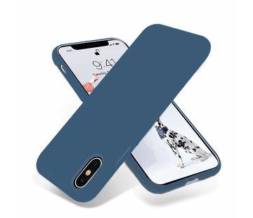 ShieldCase Silicone case iPhone X / Xs (donkerblauw)