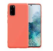 ShieldCase Samsung Galaxy S20 hoesje siliconen (oranje)