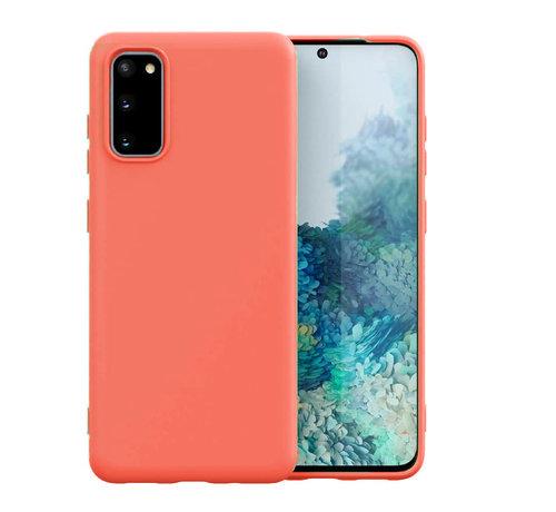 ShieldCase Shieldcase Samsung Galaxy S20 hoesje siliconen (oranje)