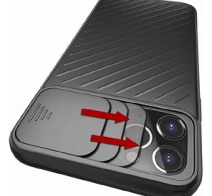 Shieldcase iPhone 11 Pro hoesje met camera slide cover (zwart)