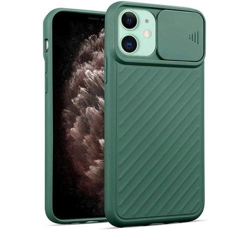 ShieldCase® Shieldcase iPhone 11 hoesje met camera slide cover (groen)