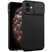 ShieldCase® iPhone 11 hoesje met camera slide cover (zwart)