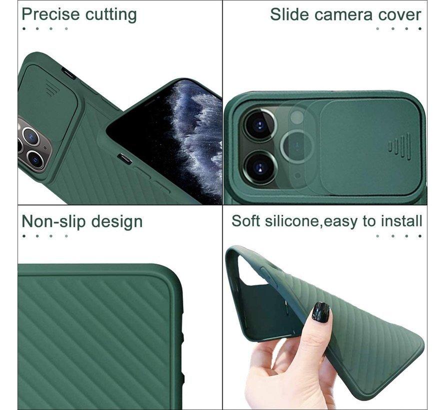 Shieldcase iPhone X / Xs hoesje met camera slide cover (groen)