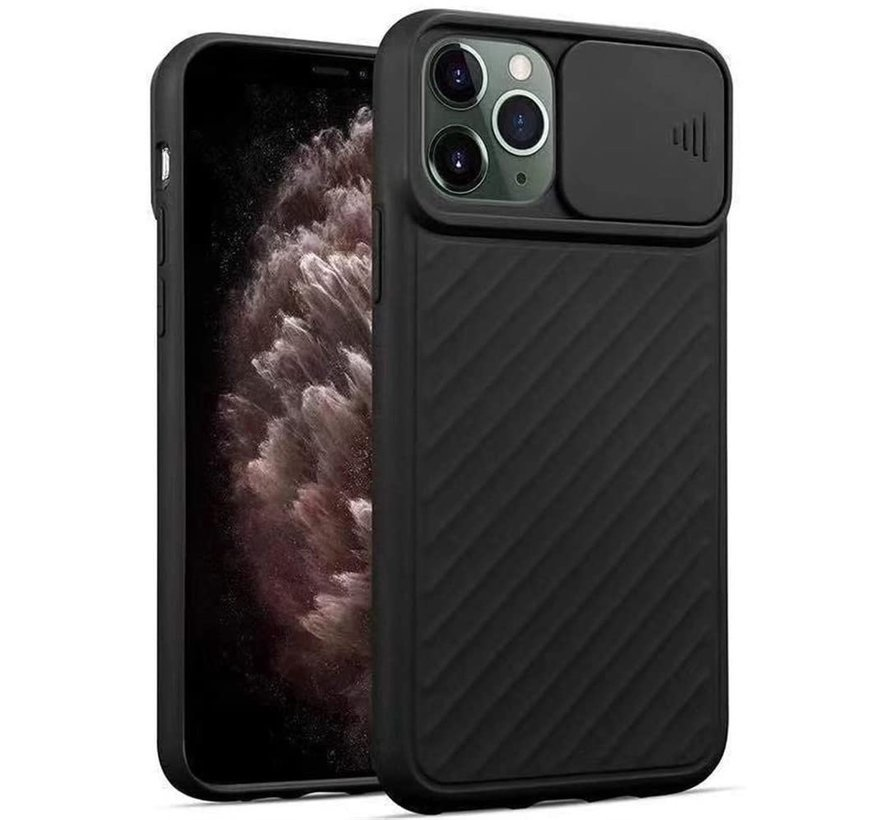 Shieldcase iPhone X / Xs hoesje met camera slide cover (zwart)