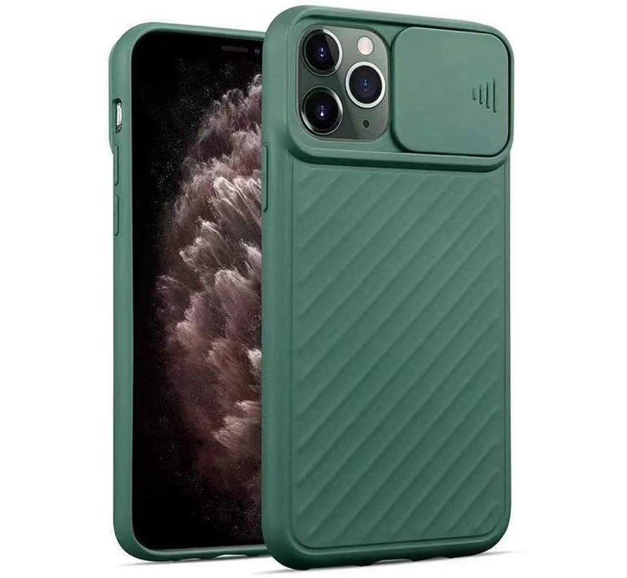 Shieldcase iPhone Xr hoesje met camera slide cover (groen)