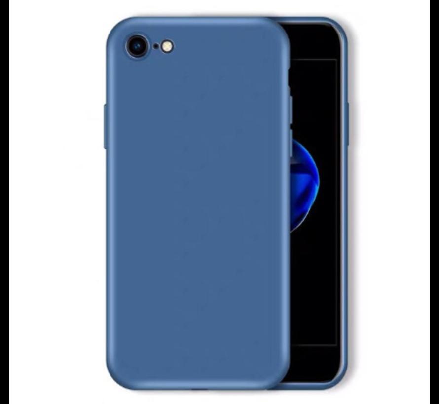 Shieldcase Siliconen hoesje met camera bescherming iPhone 7 / 8 (blauw)