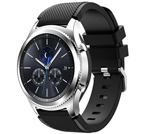 Samsung Gear S3 siliconen bandje (zwart)