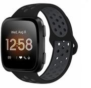 Fitbit Versa sport band (zwart/grijs)
