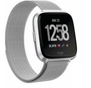 Fitbit Versa Milanese band (zilver)