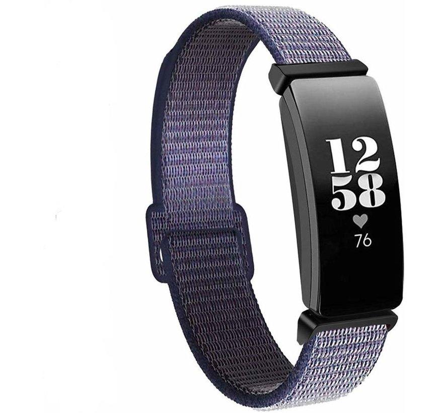 Fitbit Inspire nylon bandje (paars)