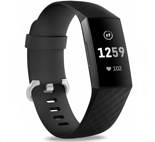 Fitbit Charge 3 silicone band (zwart)