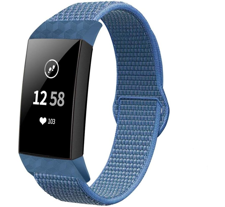 Fitbit Charge 4 nylon band (blauw)