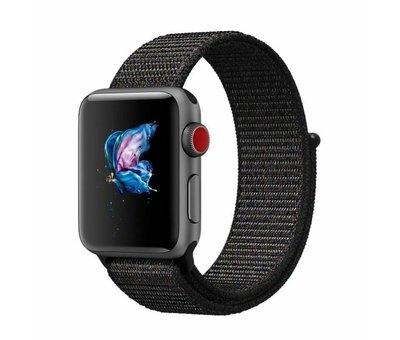 Apple Watch nylon loop band (zwart)