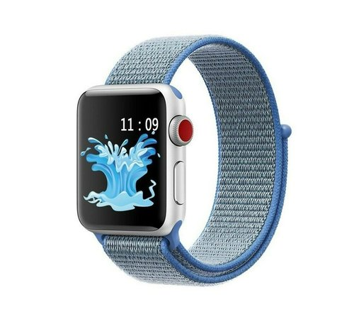 Apple Watch nylon band (blauw)