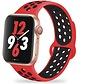 Apple Watch silicone sport+ band (rood/zwart)