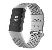 Fitbit Charge 4 siliconen bandje met gaatjes (grijs)