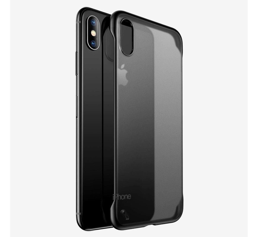 ShieldCase iPhone Xr slim case met bumpers (zwart)