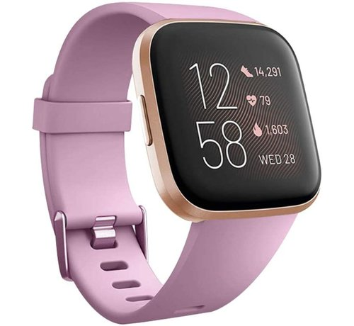 Fitbit Versa silicone band (oud-roze)