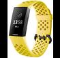 Fitbit Charge 4 siliconen bandje met gaatjes (geel)