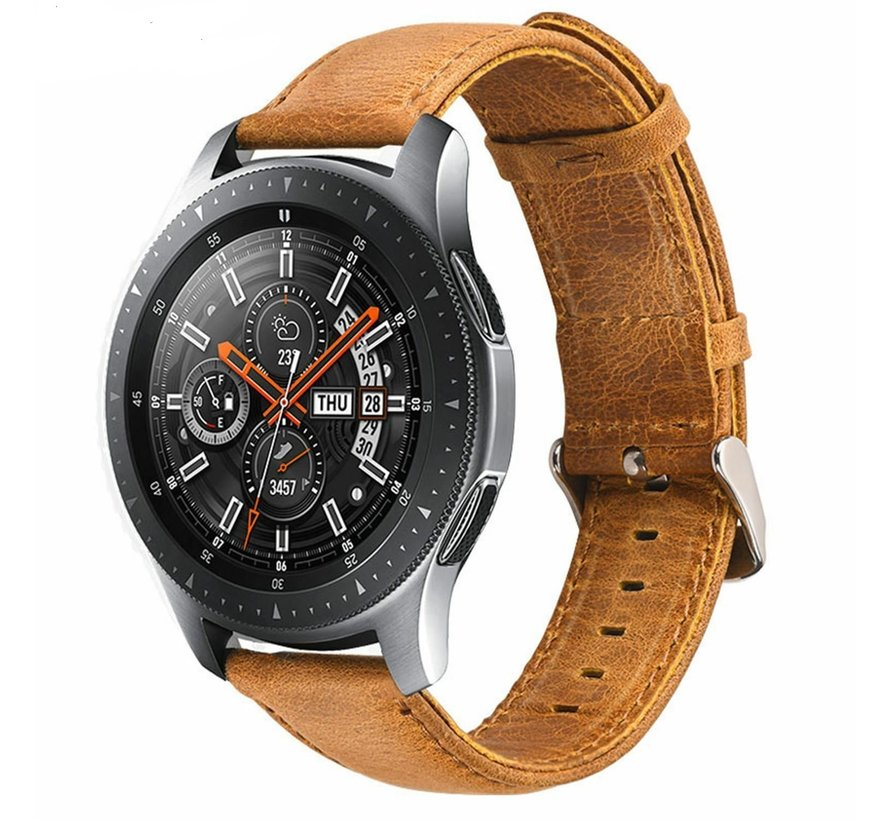 Samsung Galaxy Watch leren bandje (bruin)